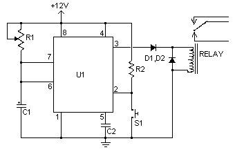 12 volt linear actuator wiring diagram rangkaian timer sederhana ic 555 dengan relay  rangkaian timer sederhana ic 555 dengan relay