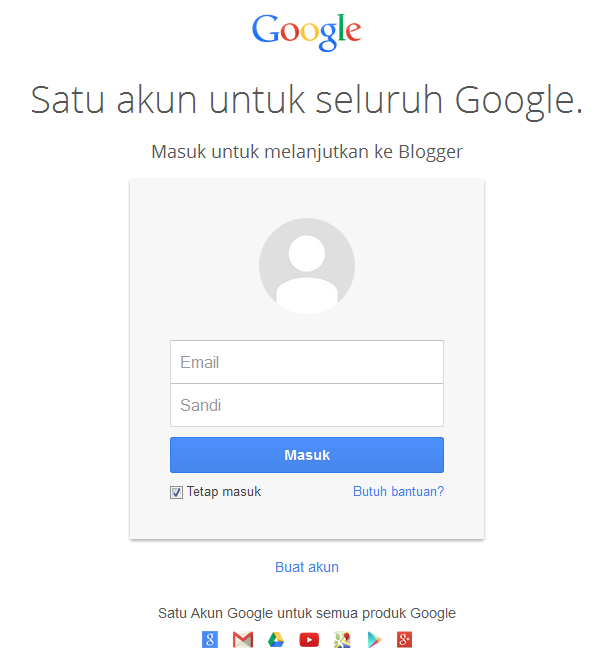Login Akun Blog