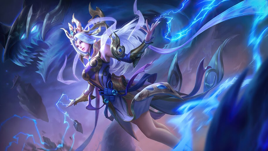 Selena Thunder Flash Skin Mobile Legends 4K Wallpaper #3.1671