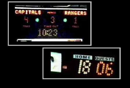 Top: Scoreboard; Bottom: Shot Clock.