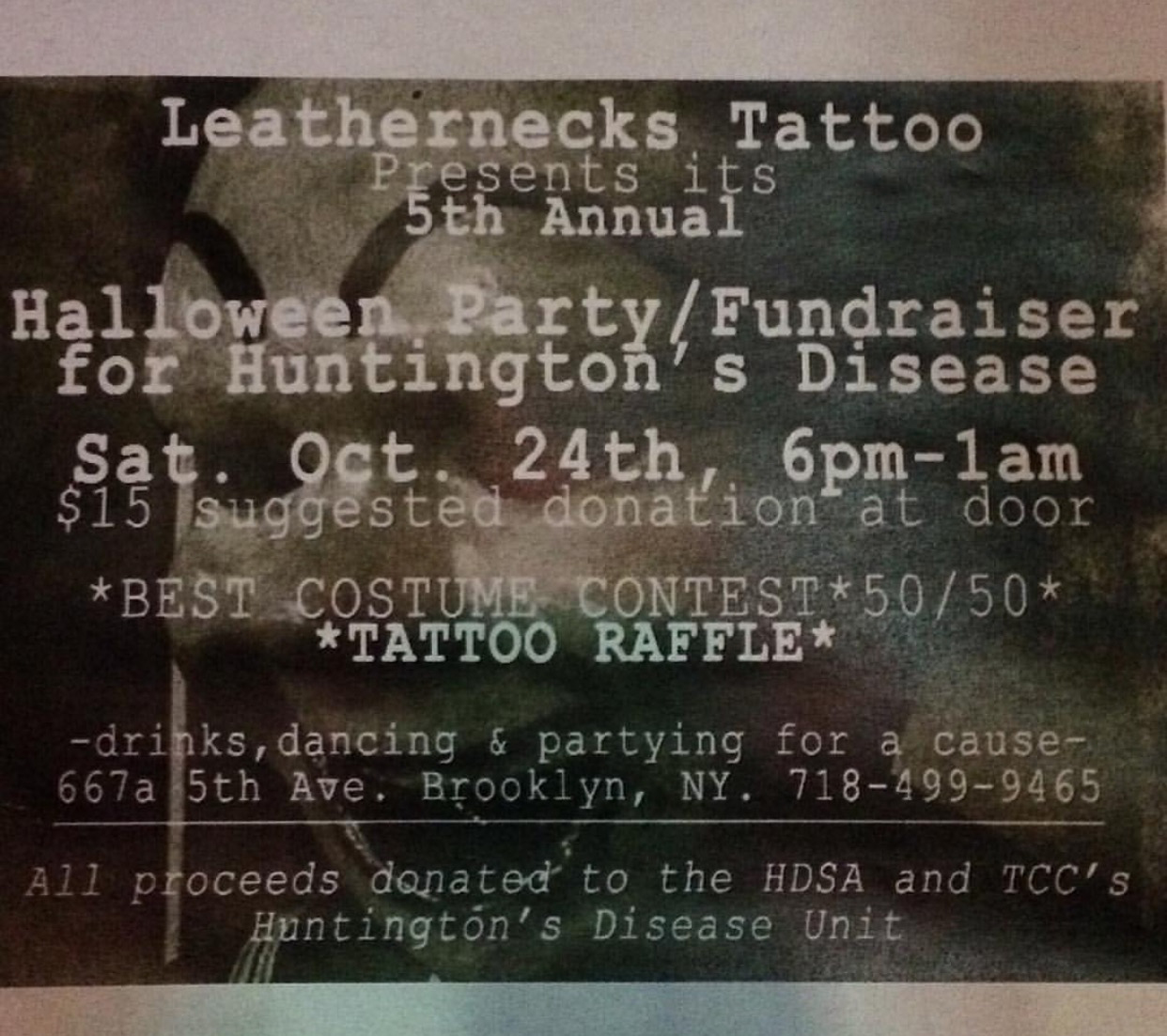 Leathernecks Tattoo Halloween Party 2020 LEATHERNECKS TATTOO
