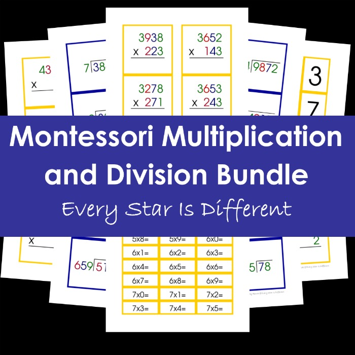Montessori Multiplication and Division Bundle