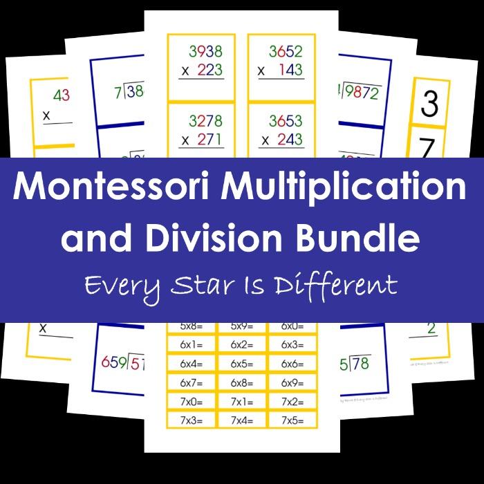 Montessori Multiplication and Division Bundle