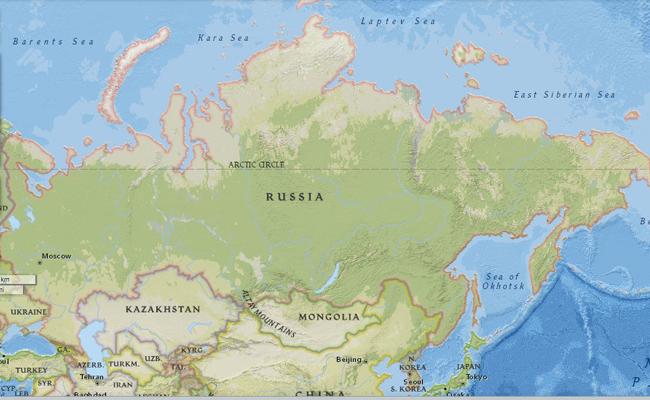 Peta Rusia