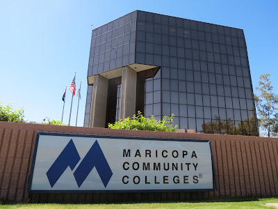 Maricopa County Community College District building in Tempe on a sunny day
