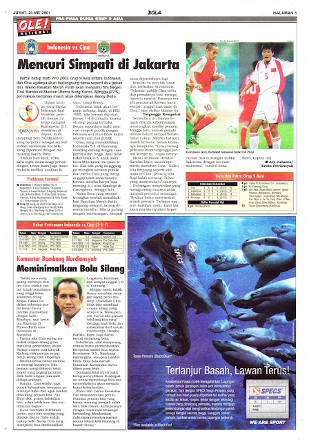 PRA-PIALA DUNIA GRUP 9 ASIA INDONESIA VS CINA