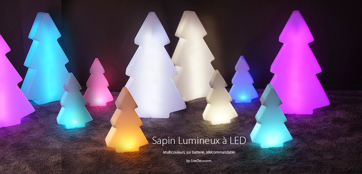 sapins lumineux led by livedeco. Black Bedroom Furniture Sets. Home Design Ideas