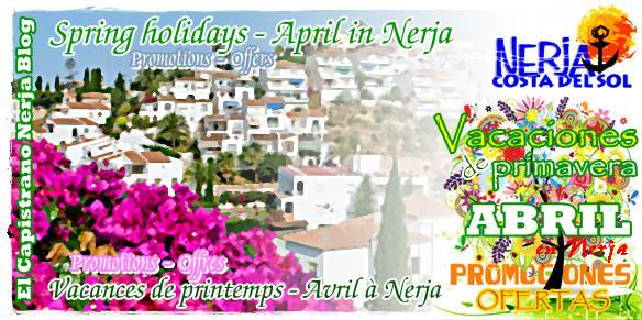 Vacaciones de Primavera abril en El Capistrano Nerja Malaga Costa del Sol