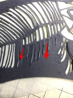 毛並みや小骨などの細い線の密集を切るときの切る方向