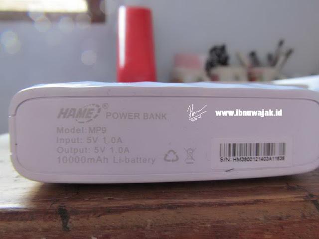 powerbank hame spesification