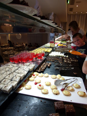 all inclusive holiday buffet fruit desserts