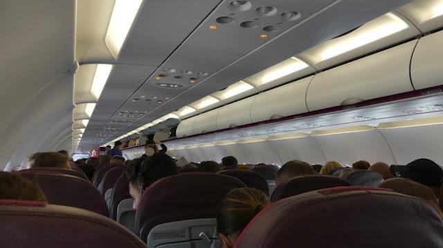 Wizzair A320 - Innenraum