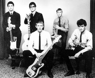 Johnny Kongos & the G-men, 1964, l-r Jesse Sumares, Johnny Kongos, Ed Burns (with bass), Rob Kearney (drums) and Hank Squires