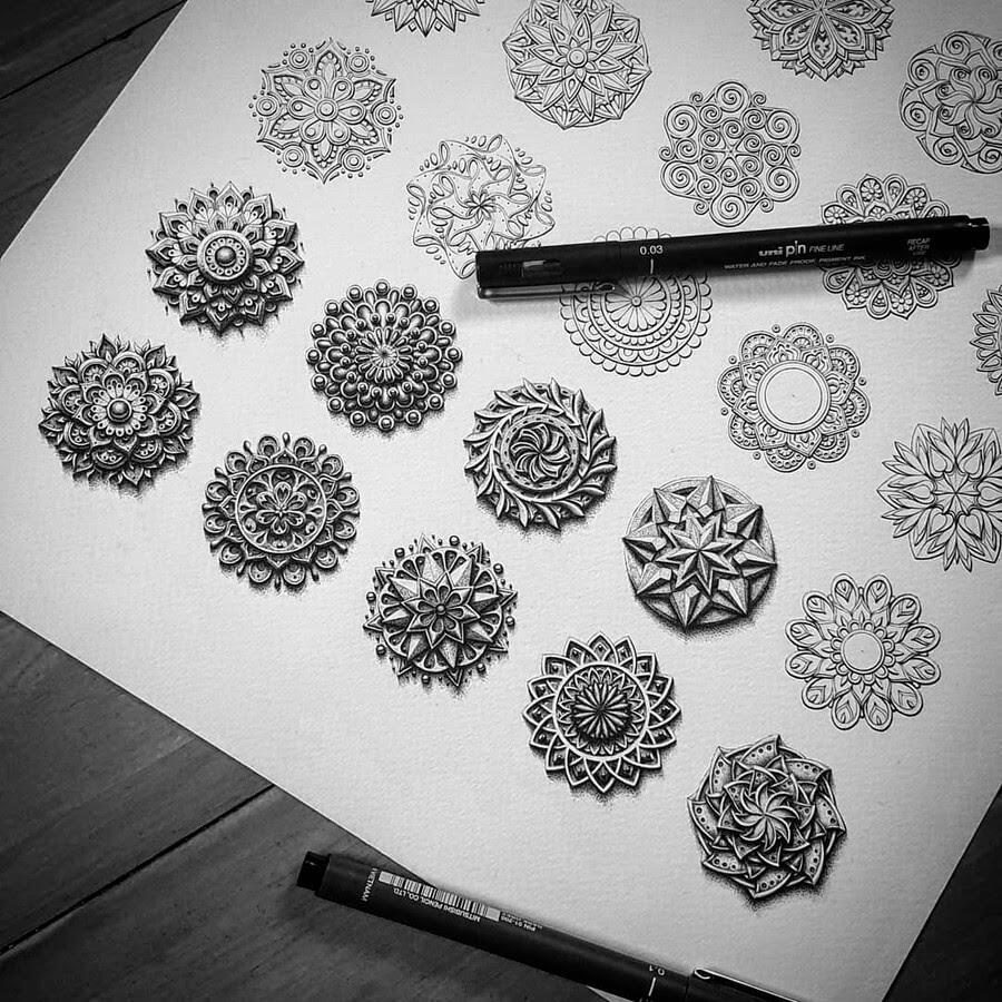 04-Tiny-3D-Mandala-Baz-Furnell-www-designstack-co