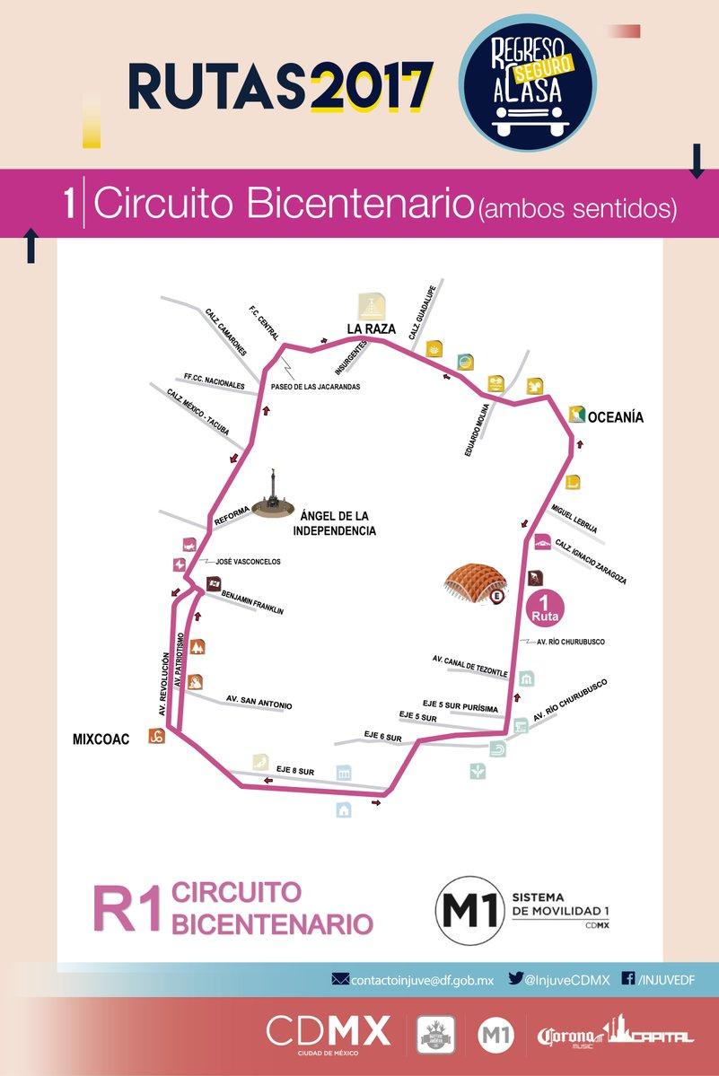 Circuito Bicentenario : Estaciones del expreso circuito bicentenario servicio