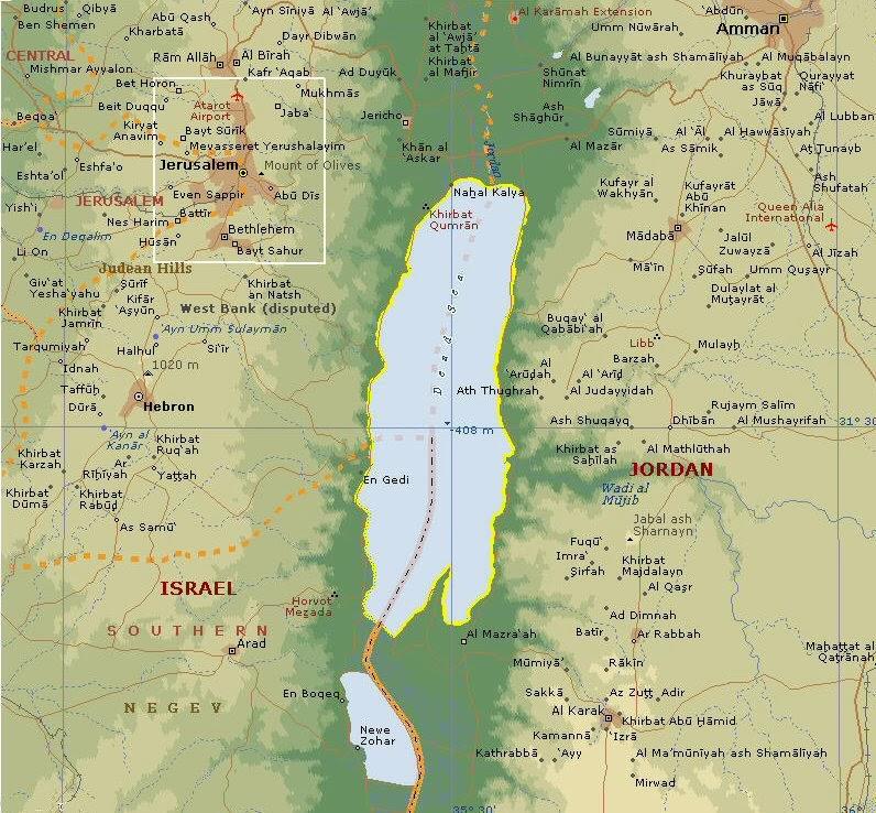 mrtvo more mapa Мртво море   сасвим другачије од других | Географија за гимназије mrtvo more mapa