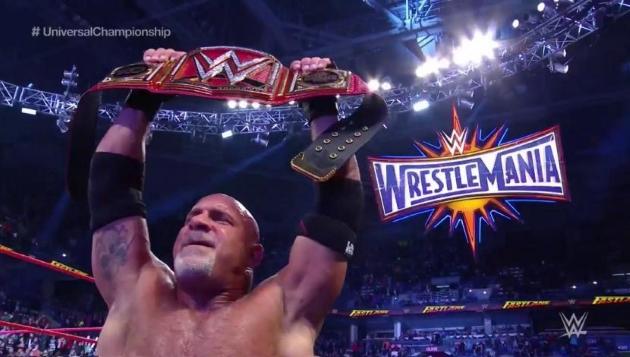 Champion avant Wrestlemania, Goldberg attend Lesnar