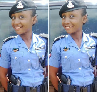 OH! She has got to be the Most Beautiful Nigerian Police officer, See Photos!