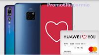 Logo Huawei Promo San Valentino 2019: cashback/ rimborso sicuro di 100€ per P20 Pro e Mate20