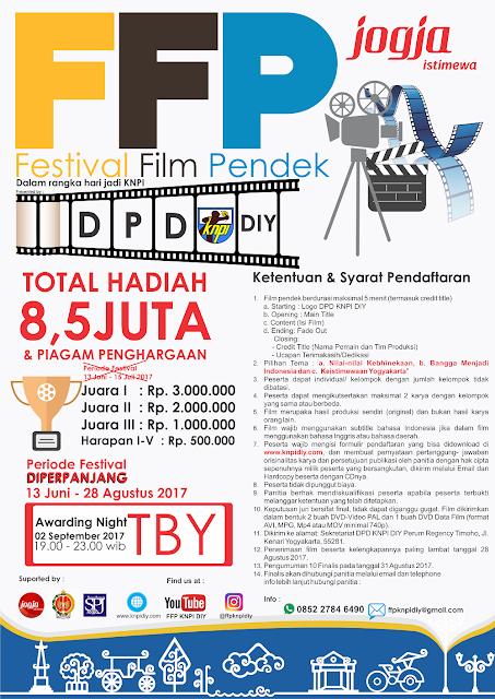 Event Festival Film Pendek 2017 | DPD KNPI DIY | Umum