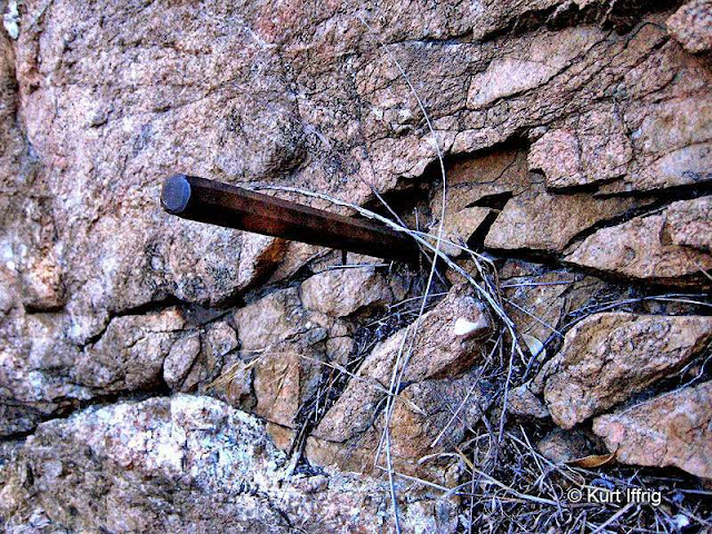 Las Flores Canyon has many side gullies. The miner's drill bit was found in one of them.
