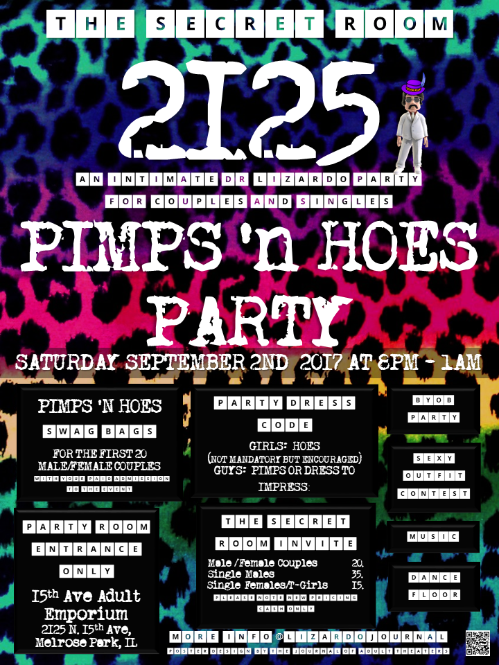 The Secret Room 2125:Pimps 'n Hoes Party at 15th Ave. Adult Theater Party Room in Chicago!