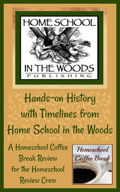 Hands-on History with Timelines from Home School in the Woods - A Homeschool Coffee Break review for the Homeschool Review Crew @ kympossibleblog.blogspot.com
