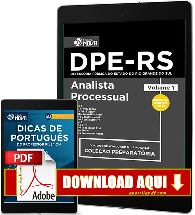 Apostila DPE RS 2017 PDF Download Analista Processual