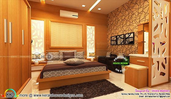 Kerala interior designs - Bedroom and dining - February ...