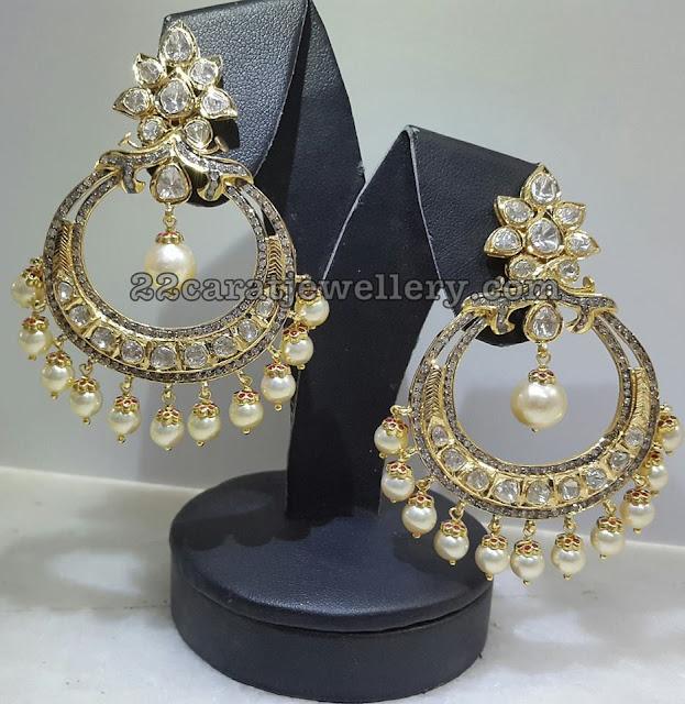 Heavy Diamond Jhumka Chandbalis