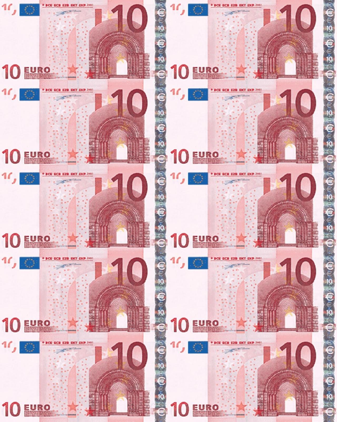 Banconote Euro Da Stampare Per Bambini Acolore