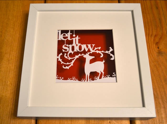 Let it snow christmas papercut