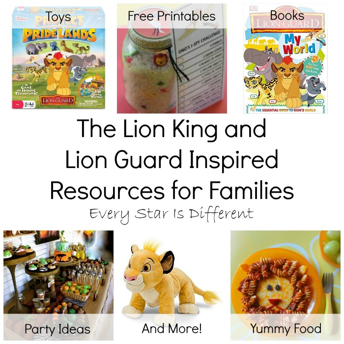 5efe1686 The Lion King and Lion Guard Inspired Resources for Families (Free ...