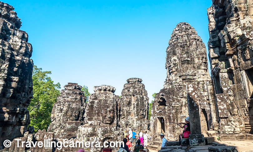 While some faces are fairly intact, others have eroded over centuries. Some of the best fridge magnets available in Cambodia are those of Bayon. You will find some that depict a face complete with its cracks and every other detail.