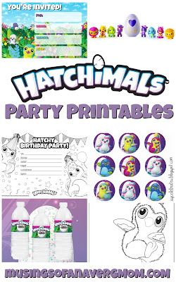 Hatchimals party printables