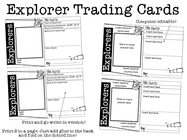 Ginger Snaps: Explorers Trading Cards