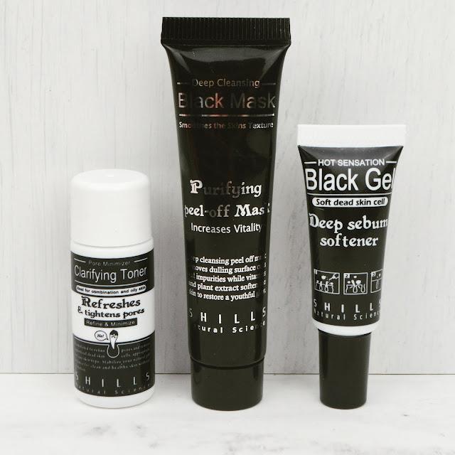 Lovelaughslipstick Blog - Shills Deep Cleansing Blackhead Removal Kit Review - Black Peel Off Charcoal Mask, Sebum Softener and Clarifying Toner from Shills