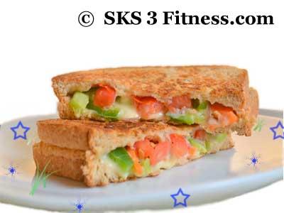 How to make Mix Veg Sandwich recipe in Hindi-English