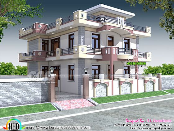 Highly decorative 4 bedroom North Indian home