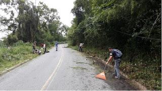 Prefeitura de Miracatu realiza manutenção na estrada do Moraes