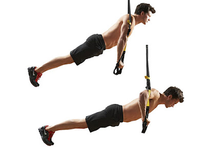 TRX workout push up