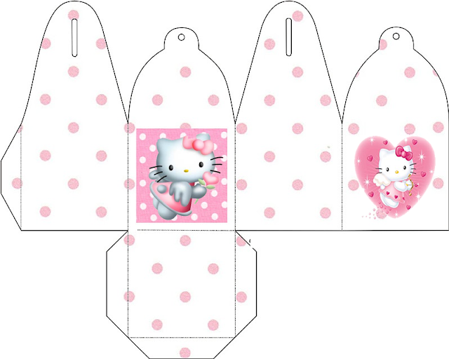 Hello Kitty Angel: Free Printable Party Boxes.