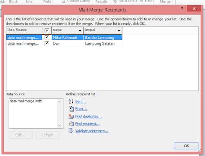 Step 10 Dalam Membuat Mail Merge