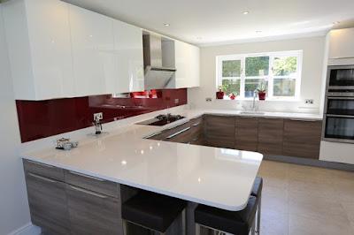 Glas Arbeitsplatte Küche
