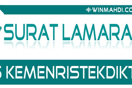 CONTOH SURAT LAMARAN CPNS KEMENRISTEKDIKTI 2018