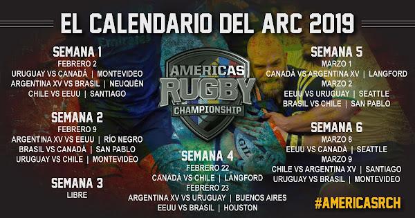 Calendario completo para la  #AmericasRC 2019