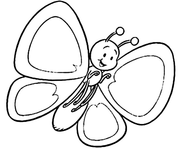 Butterfly Coloring Page With Awesome Color Pages