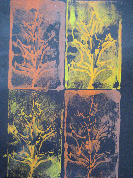 Leaf Art Projects Printmaking