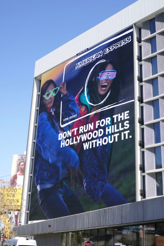 American Express Dont Run For Hollywood Hills Without It billboard