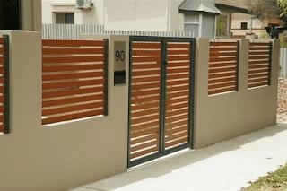 warna cat pagar tembok rumah minimalis, warna cat pagar tembok rumah, variasi tembok pagar rumah